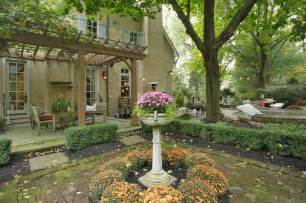 French Patio French Tudor Style Home