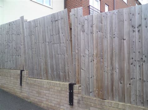 fence attached to garden wall fencing in nuneaton