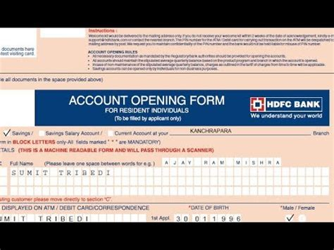 Dispute Form Hdfc Bank how to fill account opening form of hdfc bank