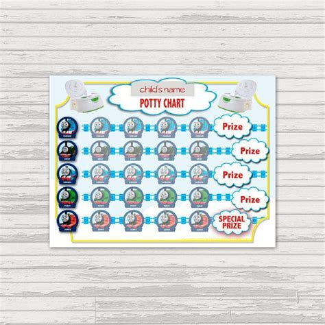 printable thomas stickers thomas potty training sticker chart instant by