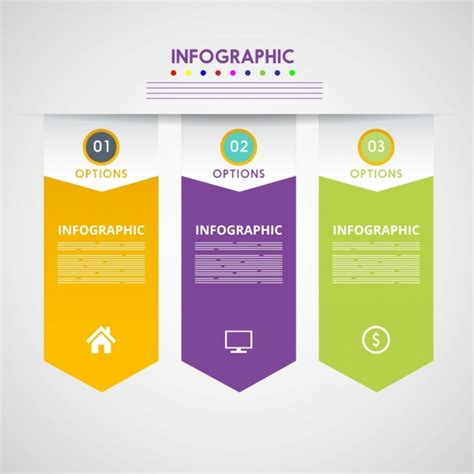 vertical layout web design colored arrows style infographic vertical design free