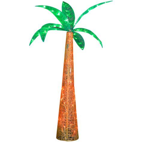 Shop gemmy metal palm tree light at lowes com