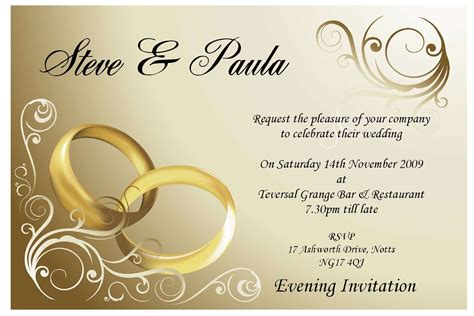 wedding invitation : Sample wedding invitation card   New