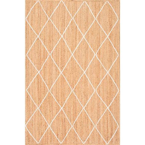8x10 trellis rug nuloom caleb braided trellis jute 8 ft x 10 ft area rug tajt15a 8010 the home depot