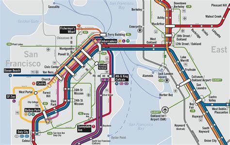 san francisco transportation map san francisco oakland subway map travelquaz