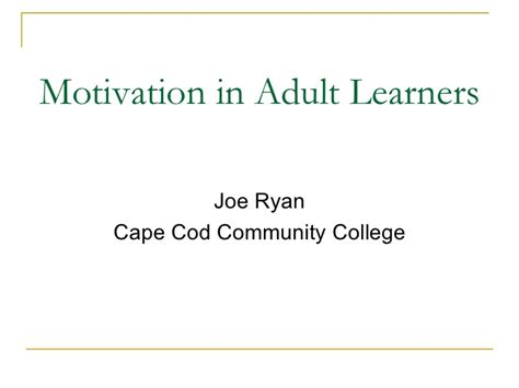 cape cod community college tuition motivation in learning
