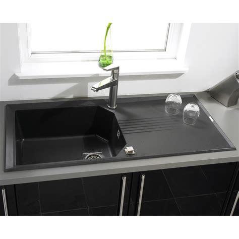 Astracast Kitchen Sinks Astracast Helix 1 0 Bowl Rok Metallic Granite Kitchen Sink Volcano Black In Matt Finish