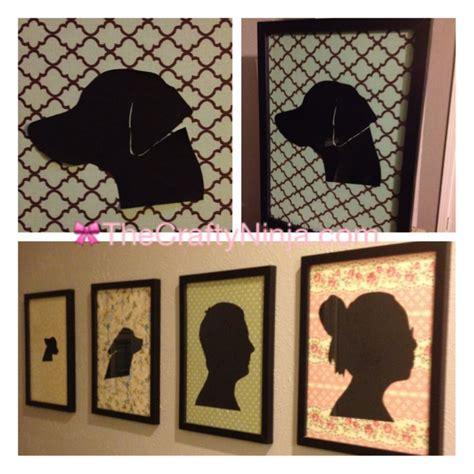 diy silhouette diy fabric canvas silhouette portraits the crafty