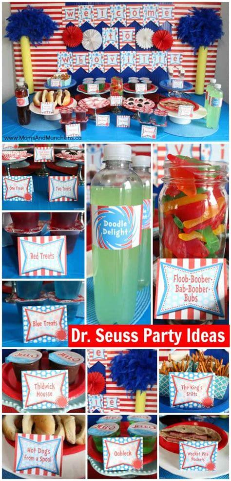 dr seuss baby shower ideas moms munchkins