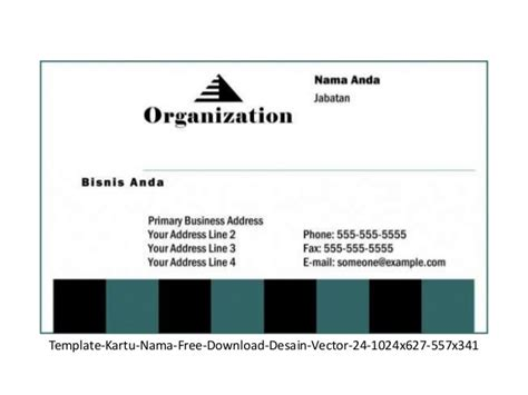 Template Kartu Nama Eps | kartu nama gratis download 53 model format vector