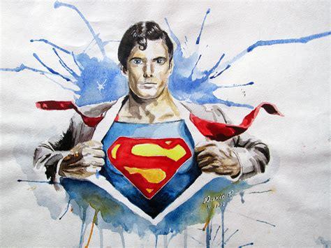 superman painting superman christopher reeve by yuskivroman on deviantart