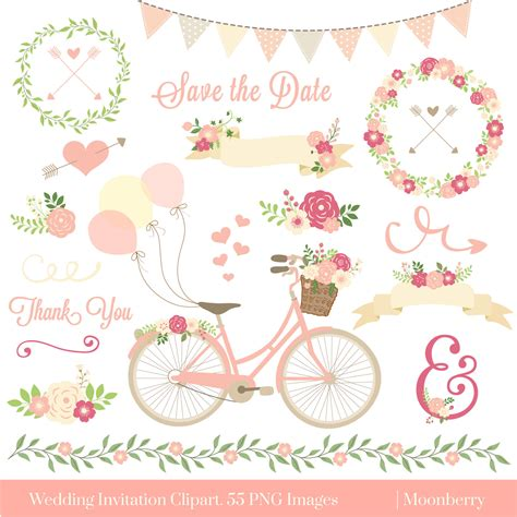 wedding invitation clipart wedding clipart floral