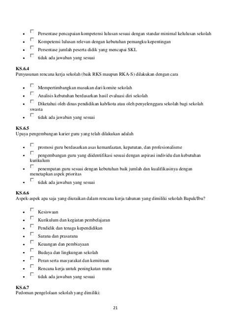 format 1 evaluasi diri guru untuk rencana pengembangan keprofesian berkelanjutan format angket eds untuk kepsek dan guru sd