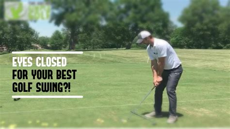 golf swing simple golf swing close eyes for feel tempo and ball striking