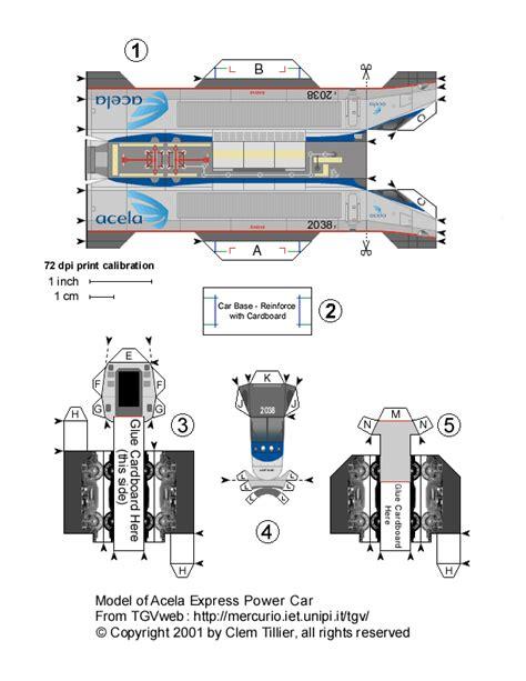 Model Railroad Car Card Template by Power Car 2038 Trainset 10