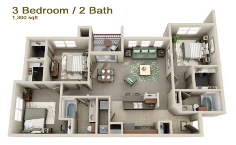 2 Bedroom Condo Floor Plans by Apartments In Mount Pleasant Tx Cypress Creek Floorplans
