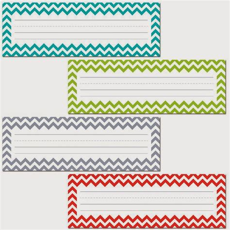Name Tags For Students Desks Printable Student Name Tags Chevron Library Pockets