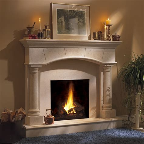 Barrington Classic Stone Fireplace Mantel   MantelsDirect.com