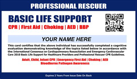bls healthcare provider card template how to renew cpr and aid certification image