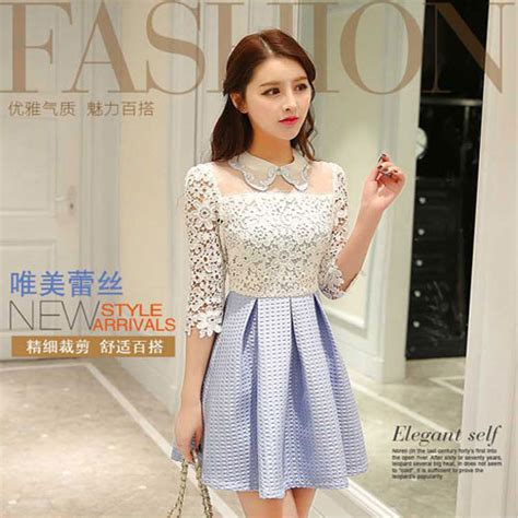 Dress Dress Korea Brukat Dress Brukat 11 dress brokat korea kombinasi katun rp 330rb