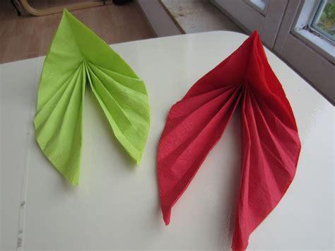 Napkins Origami - servietten einfach falten napkin designs