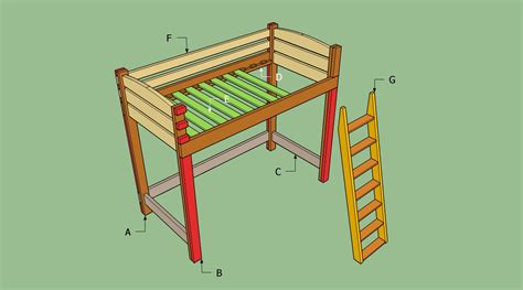 How To Build A Loft Bunk Bed Pdf Diy Diy Loft Bed With Desk Plans Diy Home Studio Furniture Woodguides
