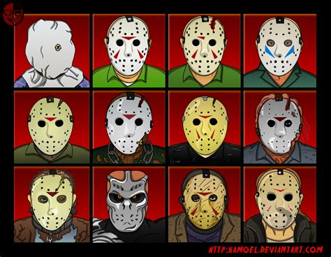 film seri friday the 13th the changing face of jason voorhees all masks faces