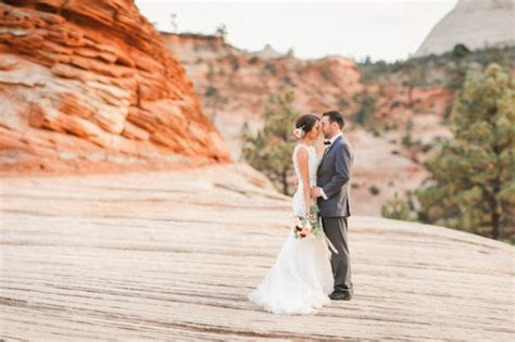 Wedding Zion National Park by Utah Wedding Photographer George Wedding