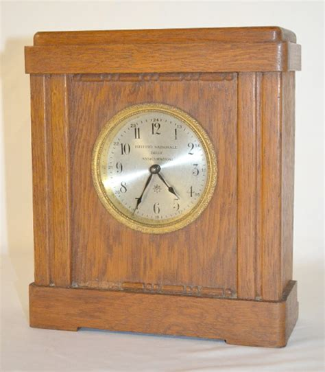 antique junghans coin operated desk clock with a set key wi