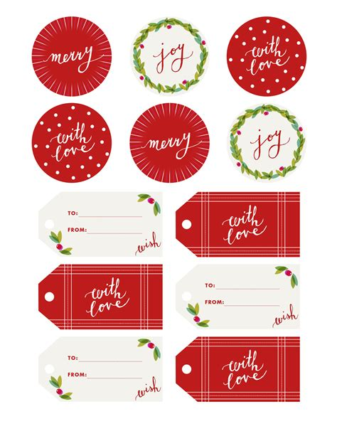 printable round christmas gift tags fine print holly jolly gift tags camille styles