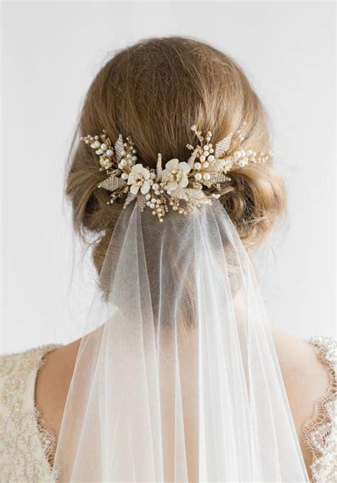 medium hairstyles with wedding combs in it jasmine floral wedding hair comb tania maras bespoke