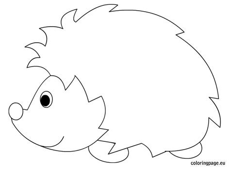 template for pages hedgehog coloring pages 17754