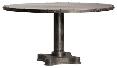 industrial 60 quot dining table eclectic dining