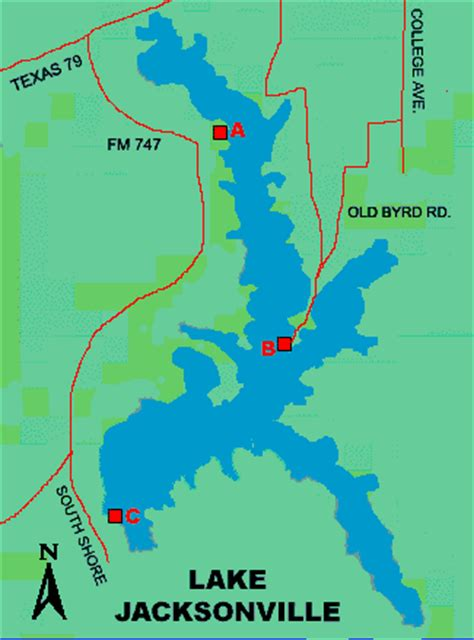 map of jacksonville texas lake jacksonville access
