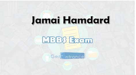Jamia Hamdard Mba 2017 by Jamia Hamdard Mbbs 2017 Dates Application Form
