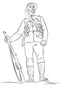 Soldier Drawing Outline by Wwi Soldier Coloring Page Free Printable Coloring Pages