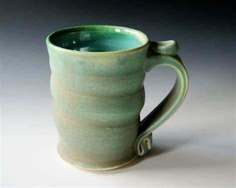 Handmade Coffee Mug - coffee mug handmade wheel thrown pottery ceramic clay