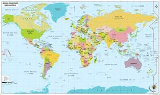 world map with each country name world map with country names and capitals maps of usa