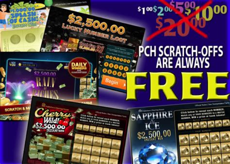 Free Instant Win Scratch Tickets - get free chances to win at publishers clearing house
