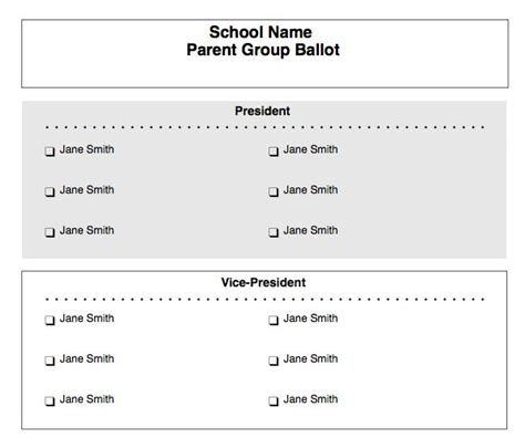 free ballot template paper ballots customizable form for free at the