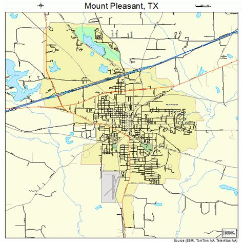 map of mount pleasant texas mount pleasant texas map 4849800