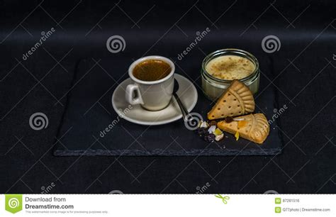 Black Coffee Aromatic One aromatic black coffee in a cup of sweet dessert