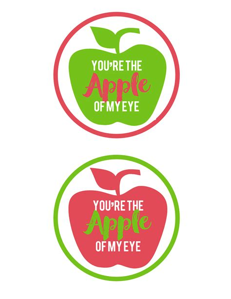 printable apple gift tags apple gift idea and free printable tag the crafting chicks