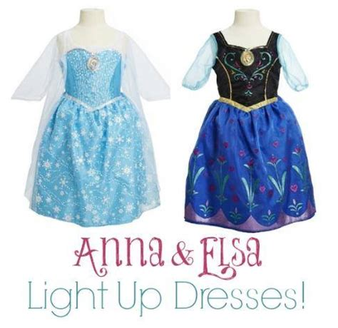 frozen light up dress anna elsa light up dresses
