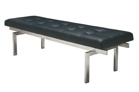 small black bench louve small black and silver metal occasional bench from