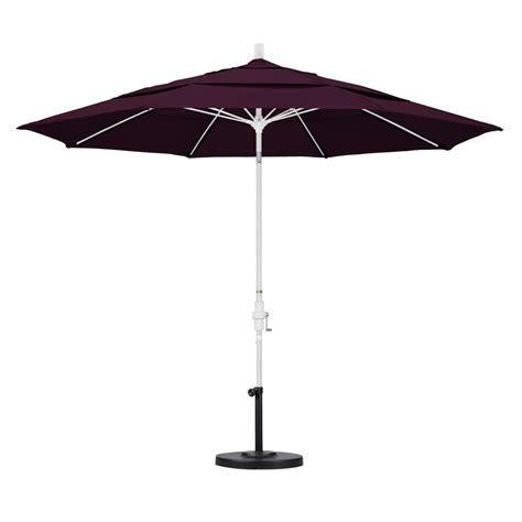 Purple Patio Umbrella California Umbrella 11 Ft Fiberglass Collar Tilt Vented Patio Umbrella In Purple