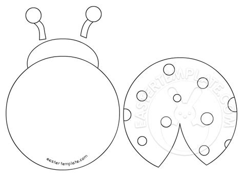 bug template printable printable ladybug template easter template