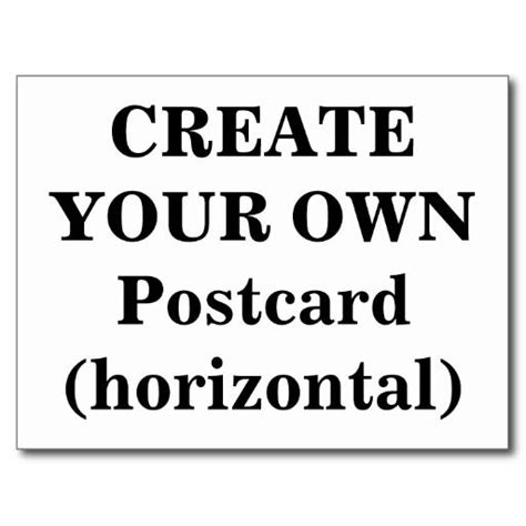make your own post cards create your own postcard horizontal