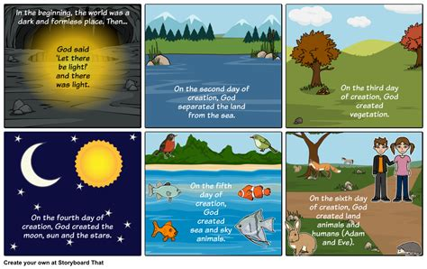 the genesis creation story christian creation story storyboard by storyboardstar235