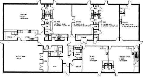 day care centre floor plans floor plan of kids world day care in sac city ia day